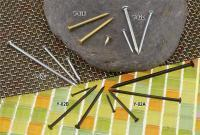 Round Steel Nail, Tacked Nail